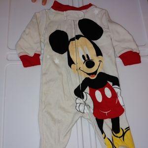 ✨4/$20 Mickey Mouse Footie PJ